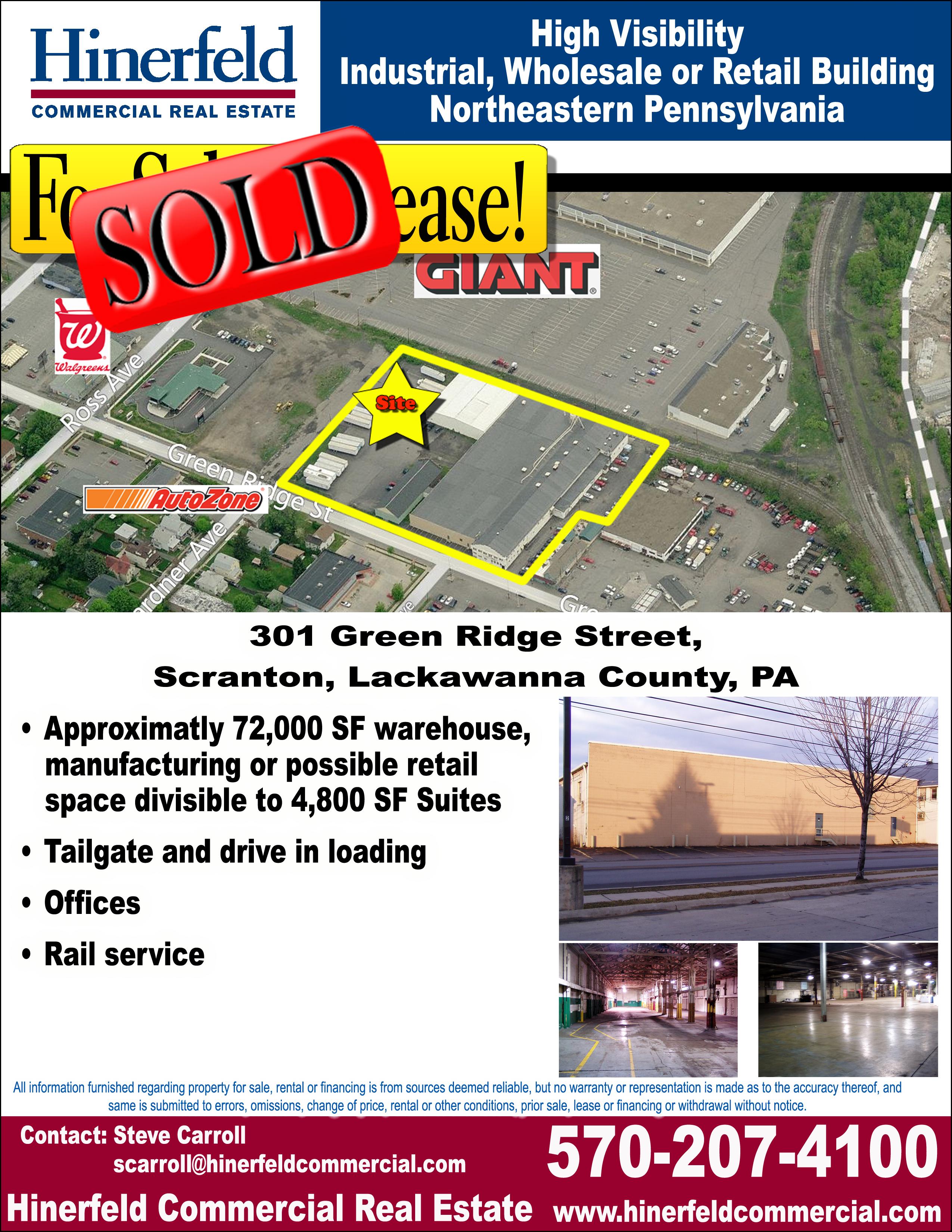 Green Ridge Street 301 Scranton FlyerSOLD